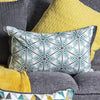 Lia Geo Print Cushion Duck Egg - Notbrand
