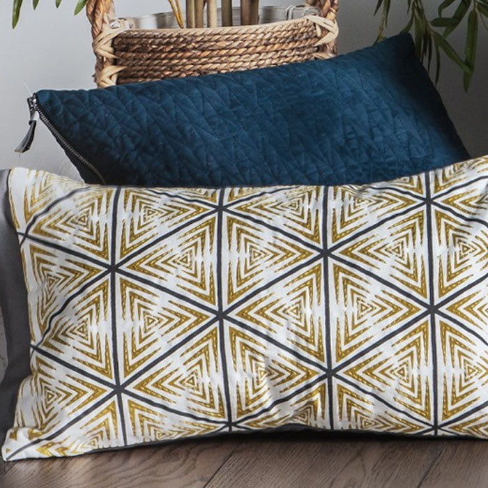 Lia Geo Print Cushion Multi - Notbrand