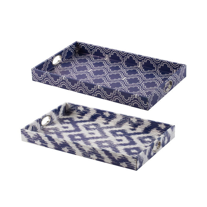 Set of 2 Ikat Trays - Notbrand