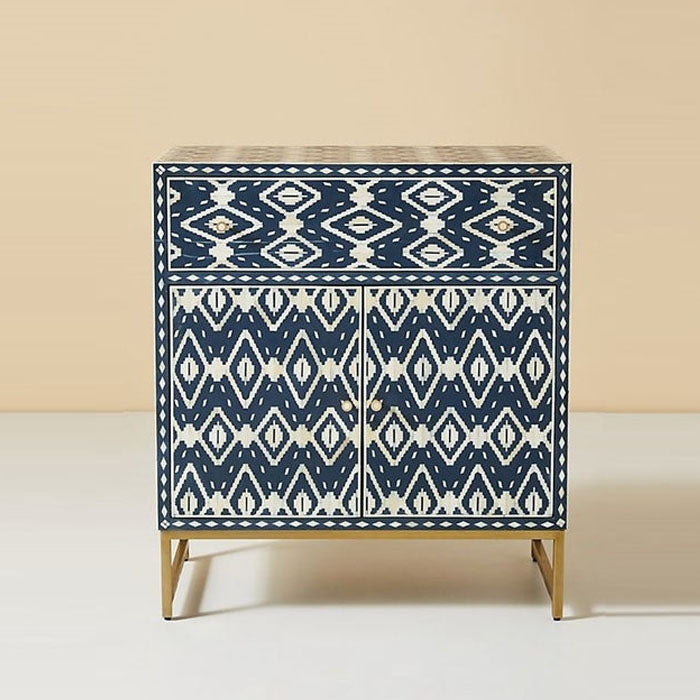 Suzan Bone Inlay Buffet Cabinet Blue - Notbrand