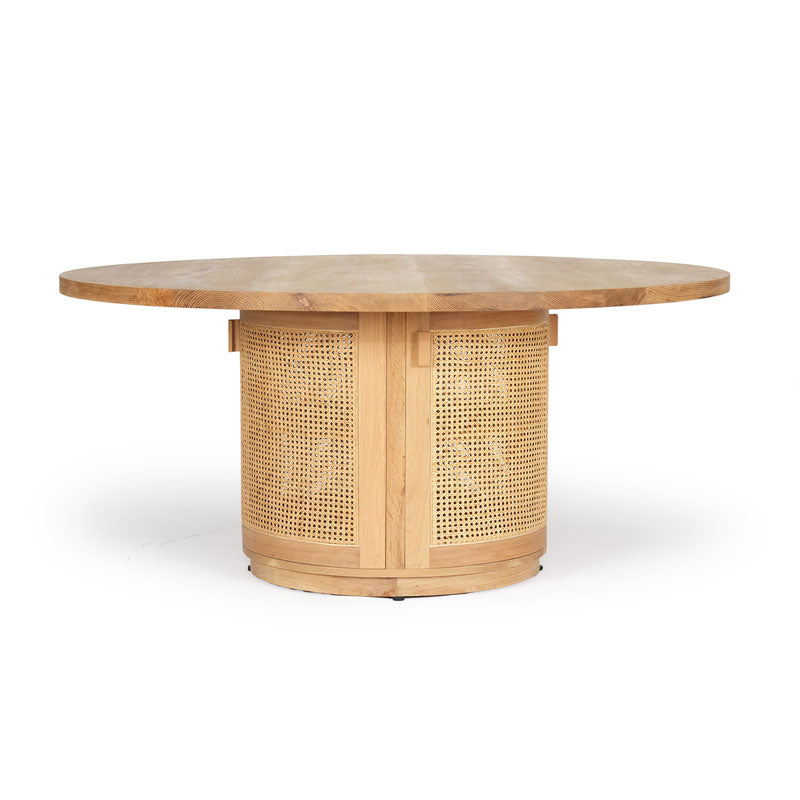 Tropical Springs Dining Table American Oak and Rattan