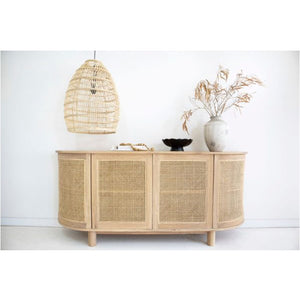 Tropical Springs Four Door Sideboard – Rounded End - Notbrand