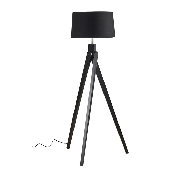 Inigo Floor Lamp Black w Black Shade - Notbrand
