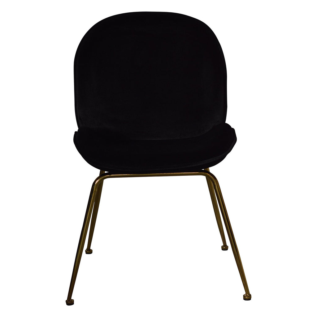 Set of 2 Paoluccio Black Dining Chair - Notbrand