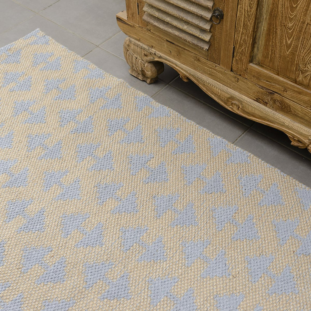 Grey Arrow Jute Flat Weave Rug