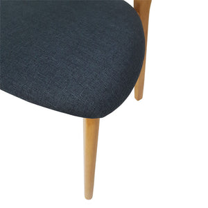 Set of 2 Jellybean Solid Timber Chairs - Storm Blue - Notbrand