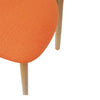 Set of 2 Jellybean Solid Timber Chairs - Orange - Notbrand