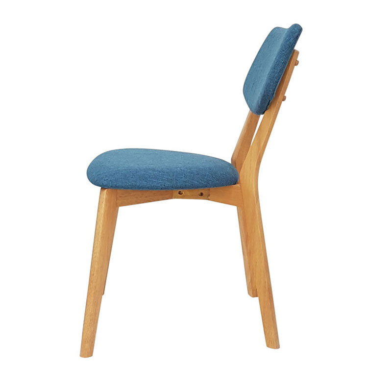 Set of 2 Jellybean Solid Timber Chairs - Teal - Notbrand