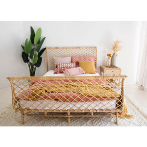 Avalon Rattan Woven Bed – King Size - Notbrand