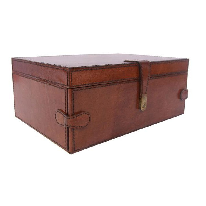 Cartier Tan Leather Jewellery Box - Notbrand