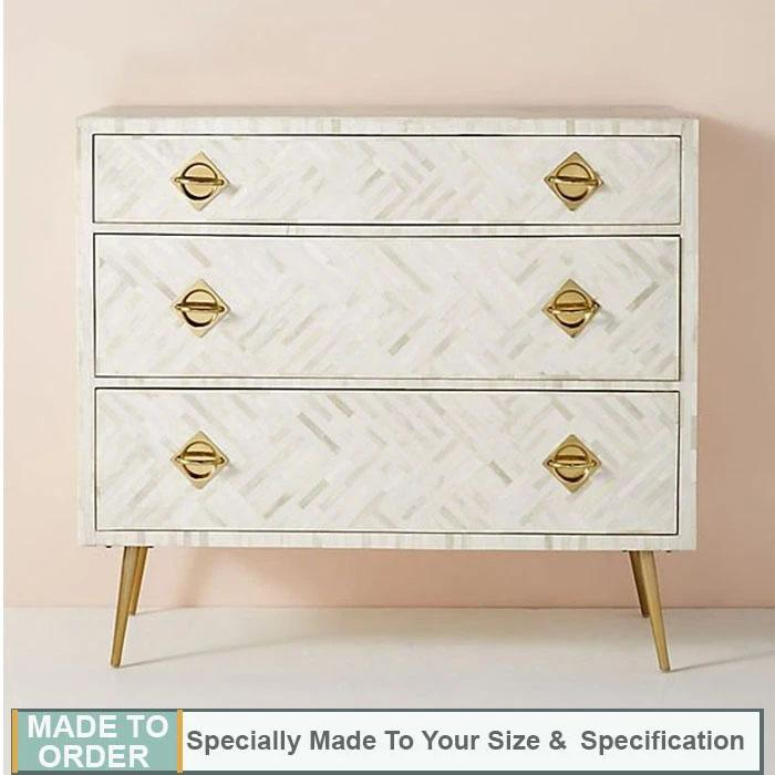 Josie+Bone+Inaly+Chest+of+3+Drawers+Dresser+White
