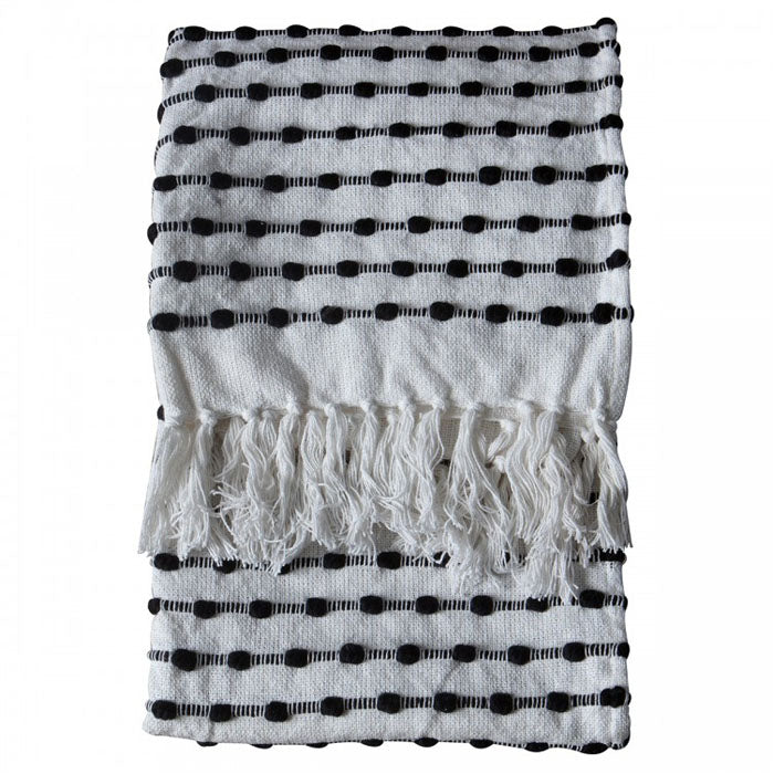 Atticus Loop Throw Black/Cream - Notbrand