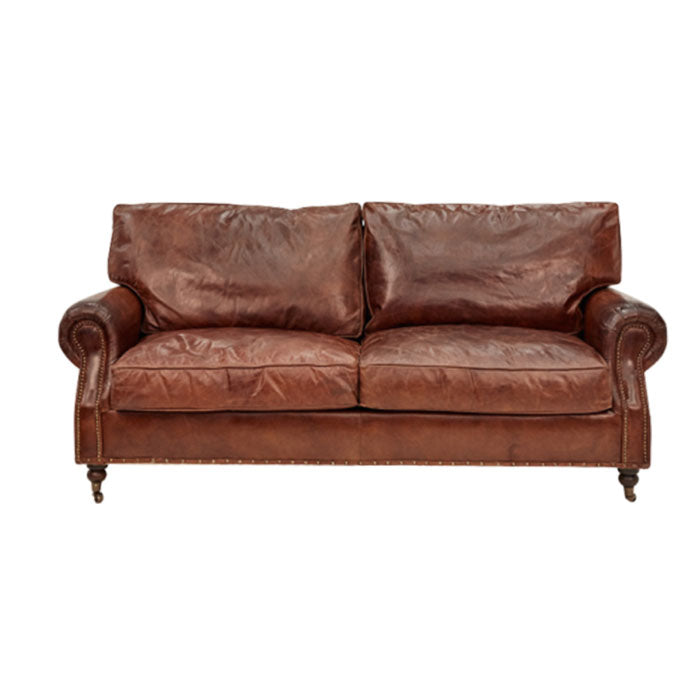 Kensington 3 Seater Sofa in Aged Leather - Notbrand