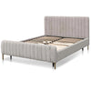 King Bed Frame - Comfort Grey - Notbrand