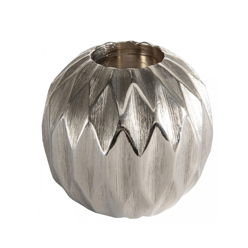 Kingsley Silver Diamond Ball Tealight Holder - Small - Notbrand