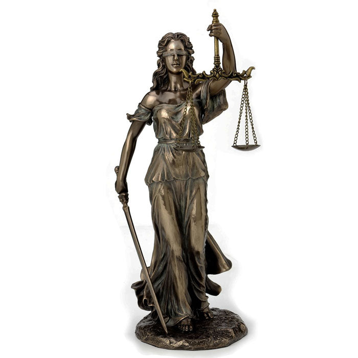 La Justicia - Goddess Of Justice Bronze Figurine Medium - Notbrand