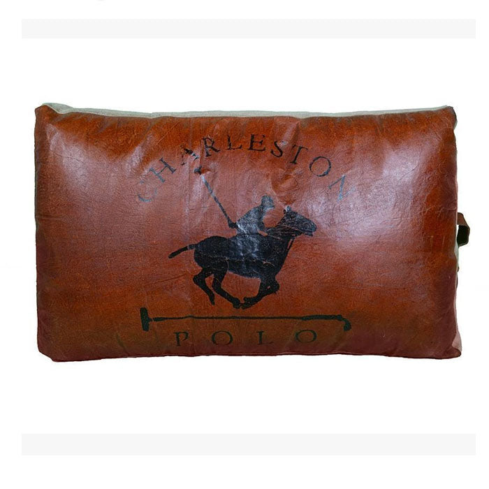 Large Charleston Polo Hand Made Cushion - Notbrand