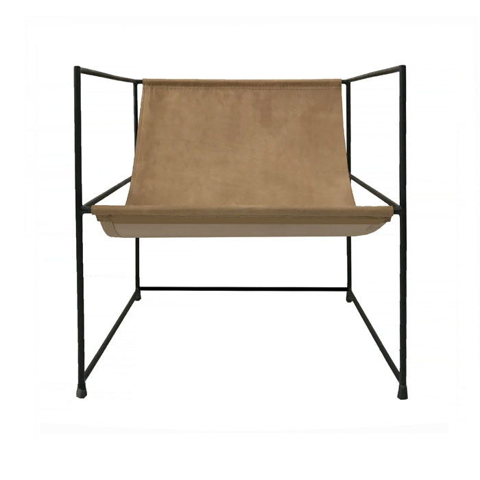 Line Caramel Leather Chair - Notbrand
