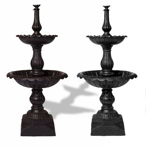 Lisbon 2 Tier Self Contained Garden Fountain 140cm - Notbrand