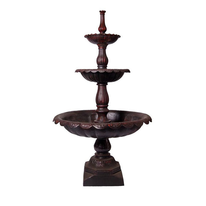Lisbon 3 Tier Cast Iron Fountain - Notbrand