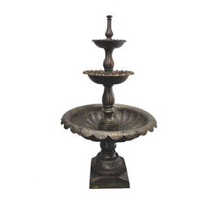 Lisbon Cast Iron 3 Tier Self Contained Fountain - Notbrand