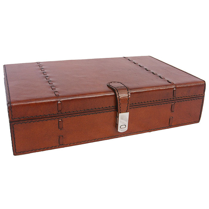 Yurman Tan Leather Jewellery Box - Notbrand