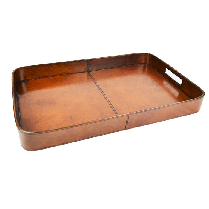 Sialkot Tan Leather Tray