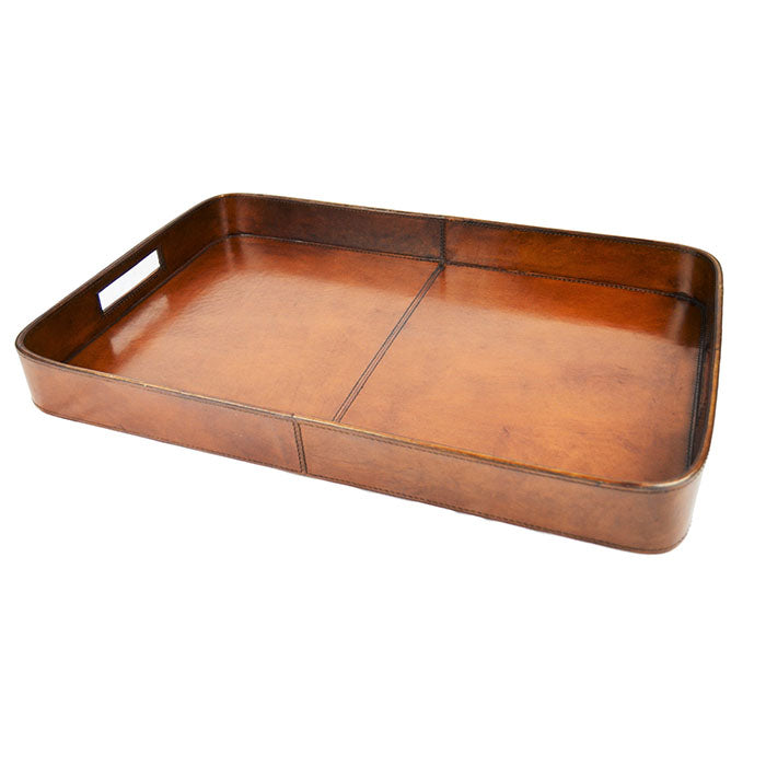 Sixpenny Tan Leather Tray - Notbrand