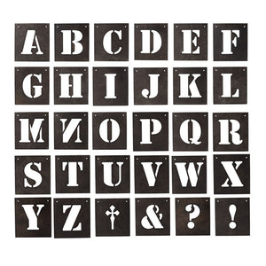 30 Letter Metal Wall Art - Notbrand