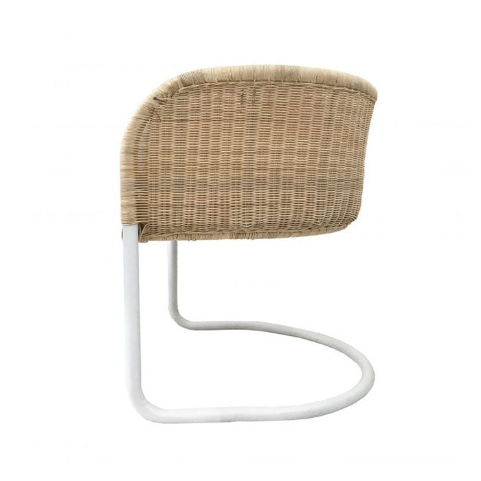 Lev White Rattan Occasional Chair - Notbrand