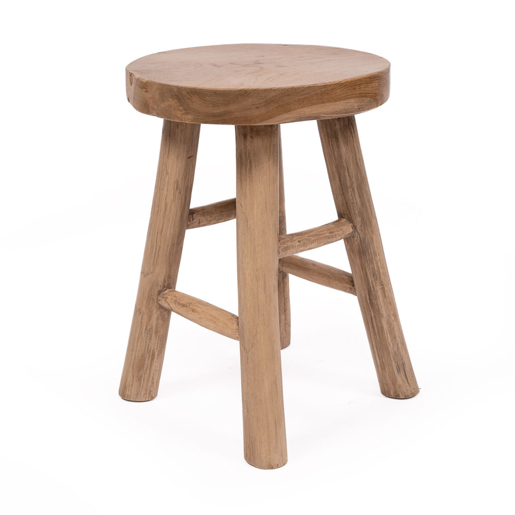 Lombok Sugar Wood Stool - Notbrand