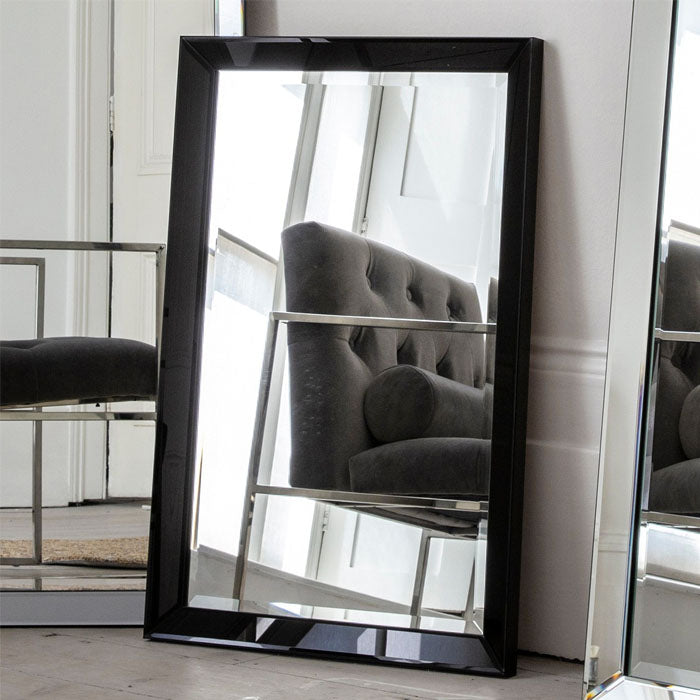 Rohan Rectangle Mirror Black - Notbrand