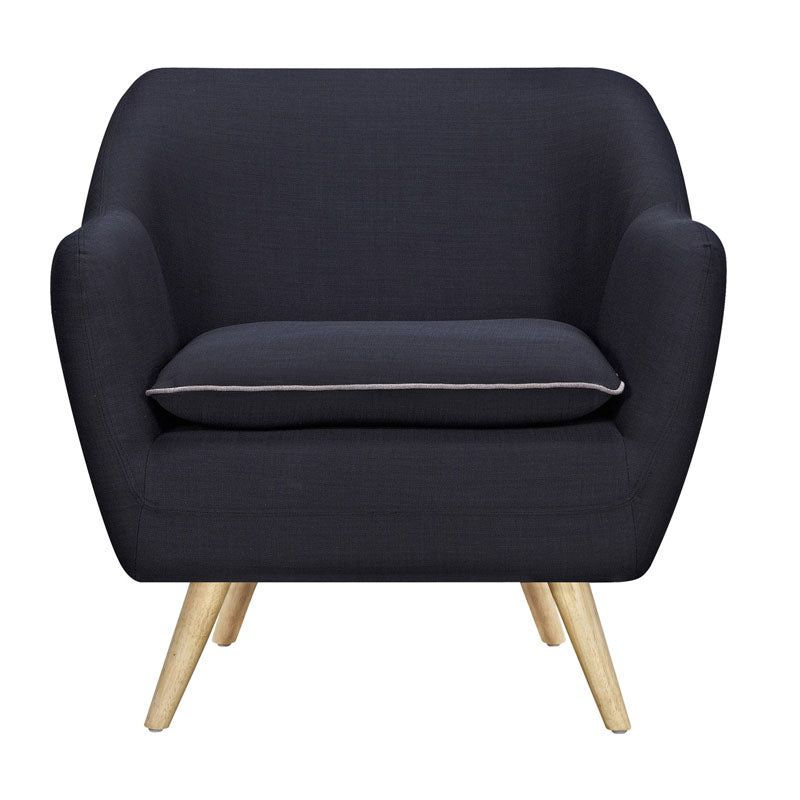 Riven Black Luxe Armchair - Notbrand