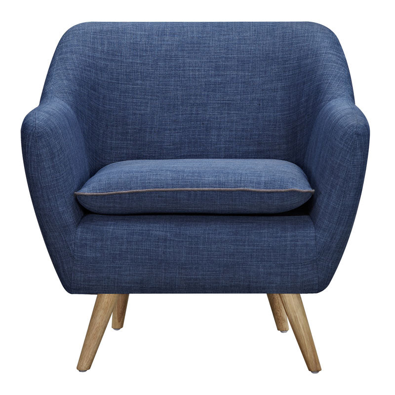 Riven Blue Luxe Armchair