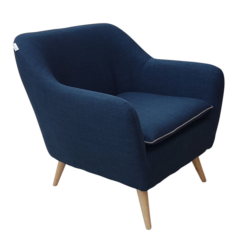 Riven Navy Blue Luxe Armchair
