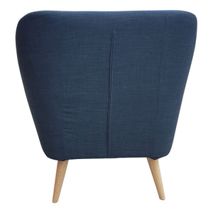 Riven Navy Blue Luxe Armchair - Notbrand