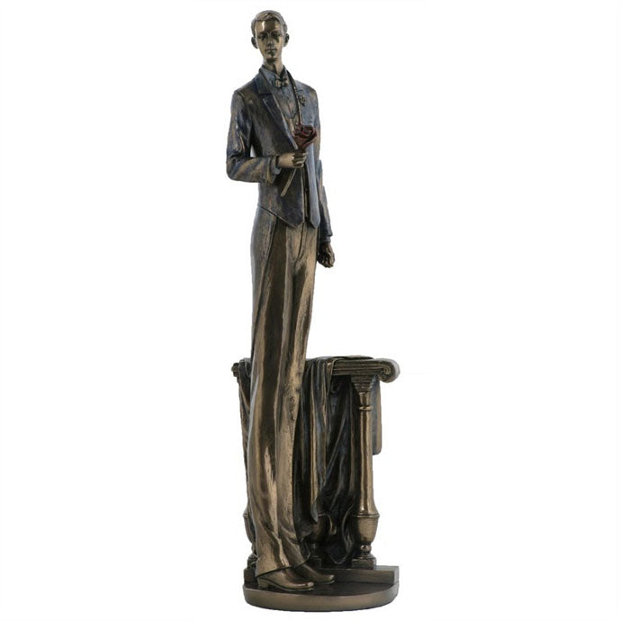 Man Waiting In Love Bronze Figurine