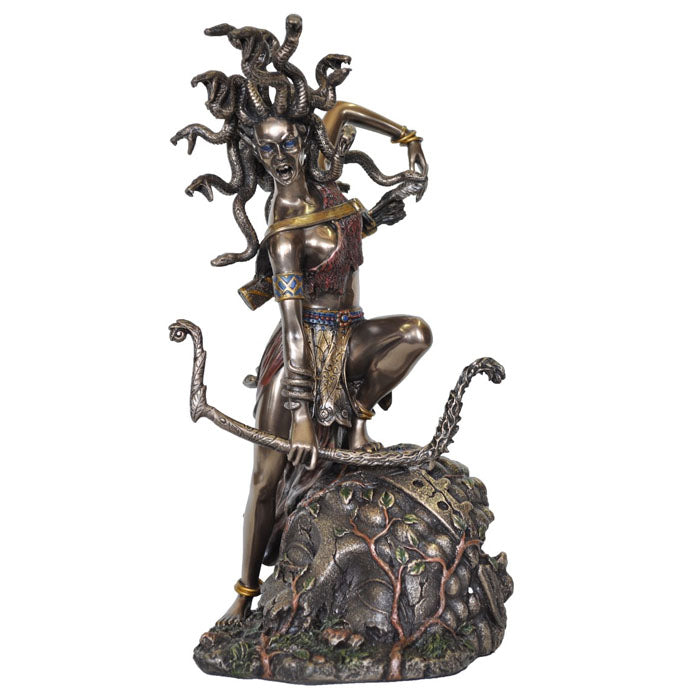 Medusa Bowing Bronze Figurine