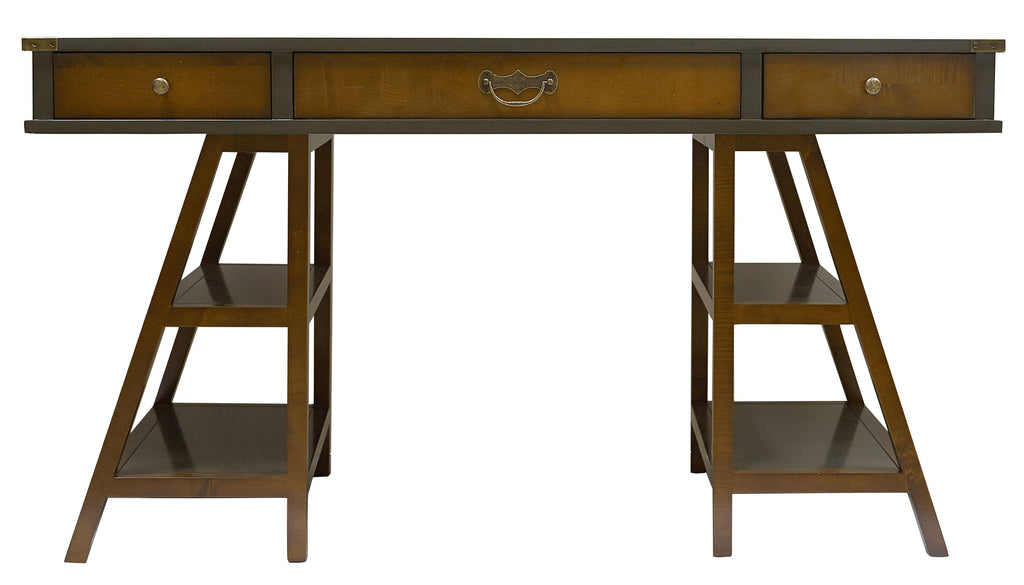 Navigator's Handmade Timber Desk Grey - Notbrand