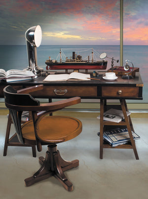 Navigator's Handmade Timber Desk Black - Notbrand