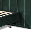MI King Bed Frame - Forest Green Velvet - Notbrand