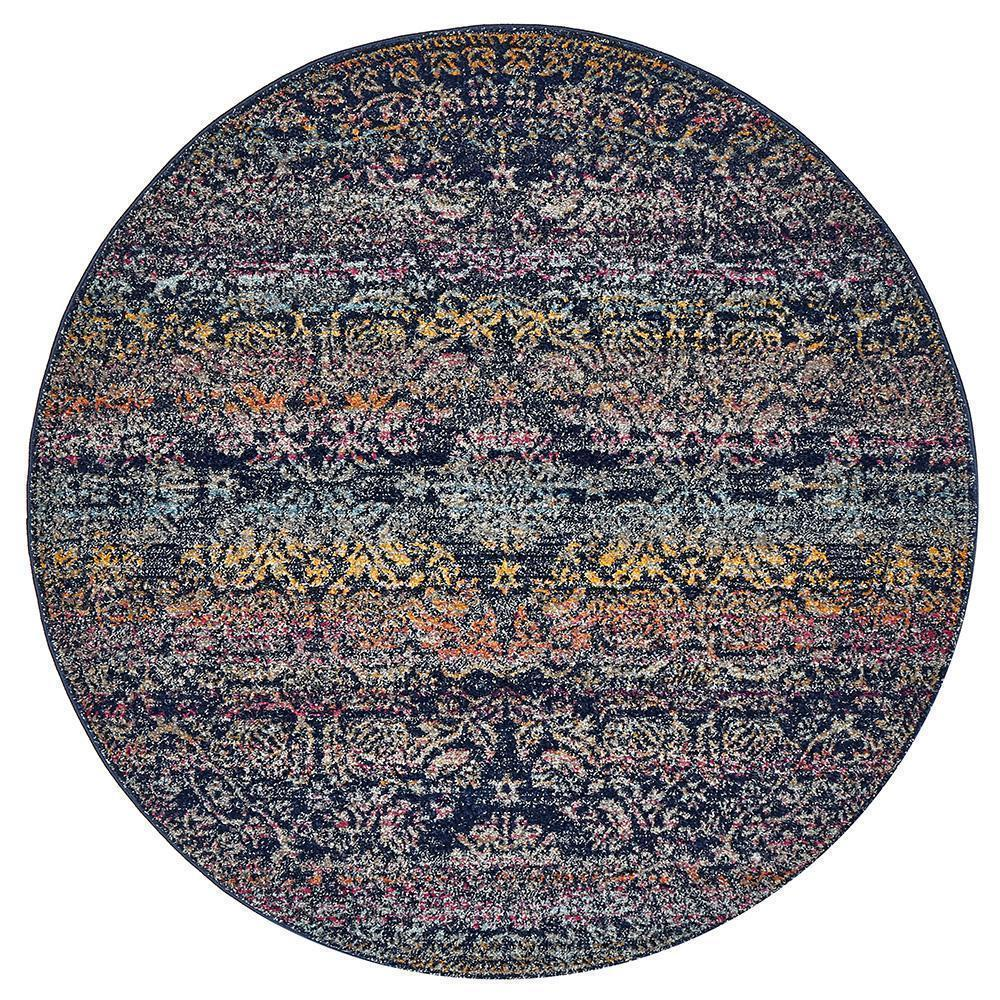 Museum Nelly Multi Coloured Round Rug - Notbrand