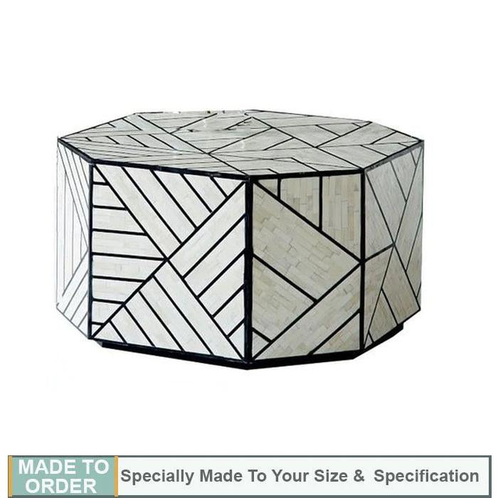 Marcello+Geometric+Design+Bone+Inlay+Coffee+Table