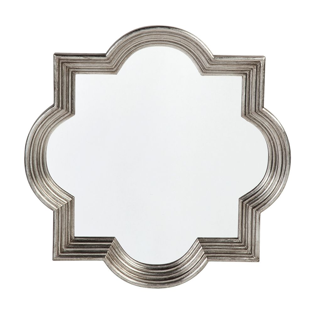 Marrakech Wall Mirror - Small Antique Silver - Notbrand