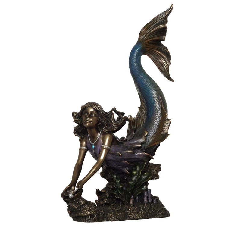 Mermaid Infant Bronze Figurine - Notbrand
