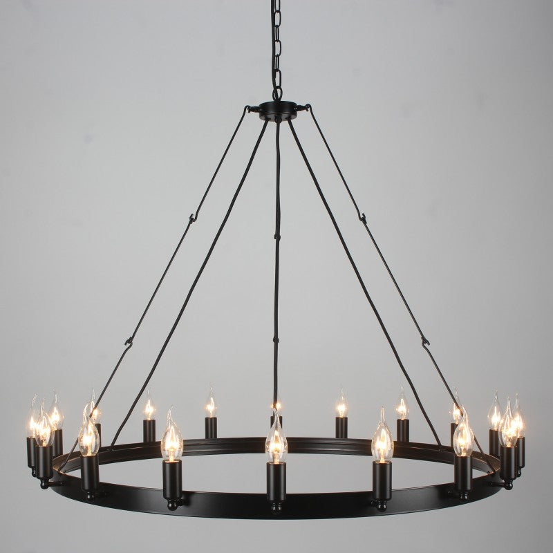 Galileo Iron Round Chandelier 18 Lights - Notbrand