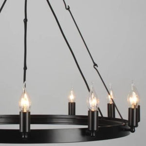 Galileo Iron Round Chandelier 12 Lights - Notbrand