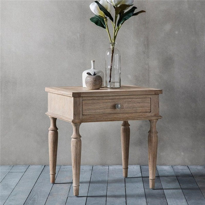 Mustique 1 Drawer Side Table - Notbrand