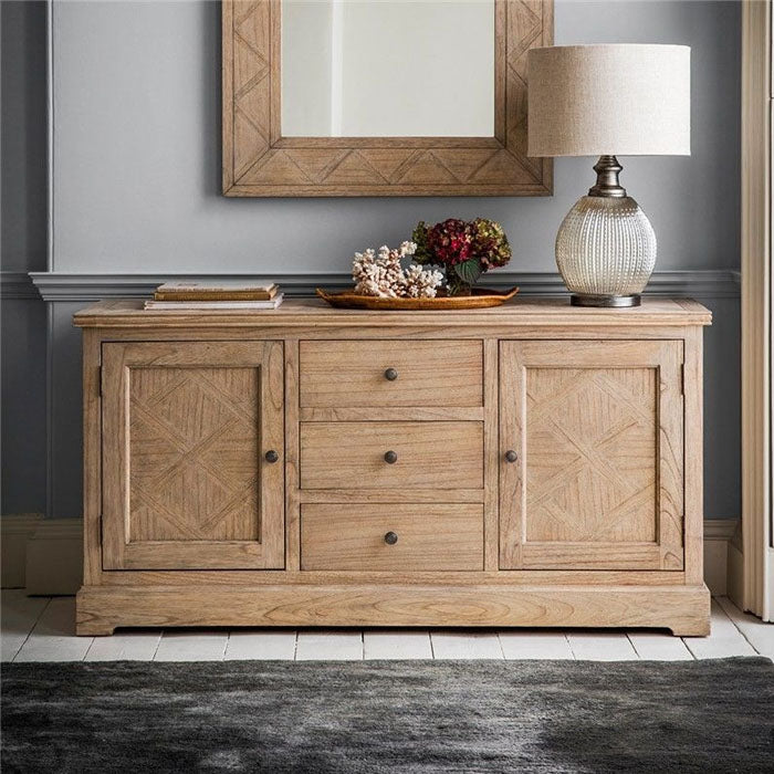 Mustique 2 Door 3 Drawer Sideboard - Notbrand