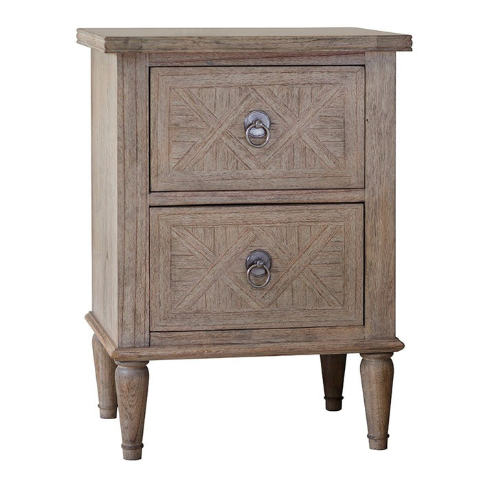 Mustique 2 Drawer Bedside Table - Notbrand